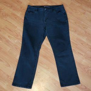 Levi's 505 straight leg black jeans stretch